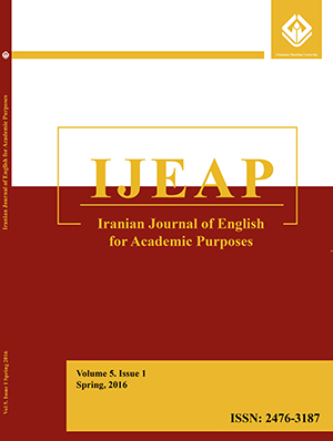 Iranian Journal of English for Academic Purposes